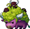 Mob Purple Curly Cow