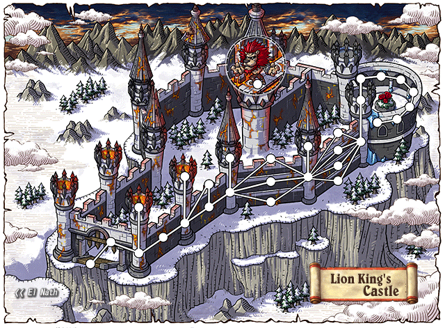 WorldMap Lion King's Castle