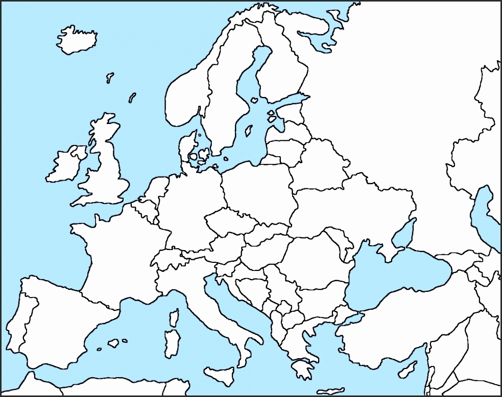 Map Of Europe Without Names Casami