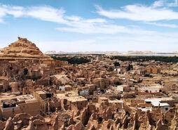 Egypt Siwa Oasis town panorama 2006