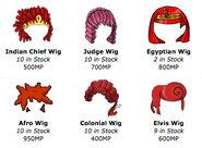 Wigs items