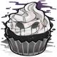 Midnight cupcake