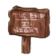 The end is nigh sign