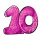 Pink 10th birthday pinata