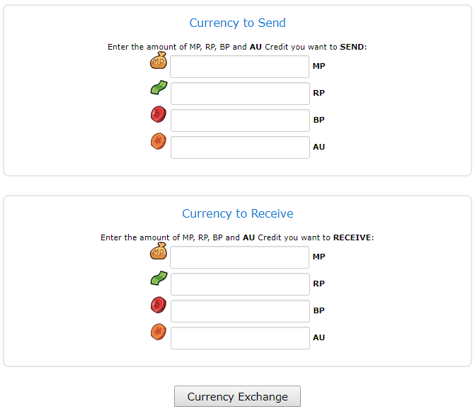 CurrencyExchangeMenu