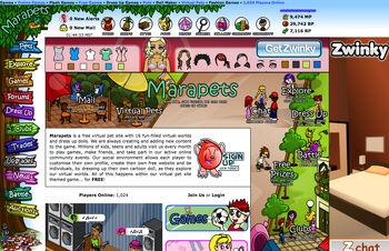 MarapetsHomepageJuly2009