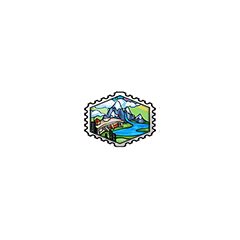 Lush Lake Stamp