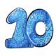 Blue 10th birthday pinata