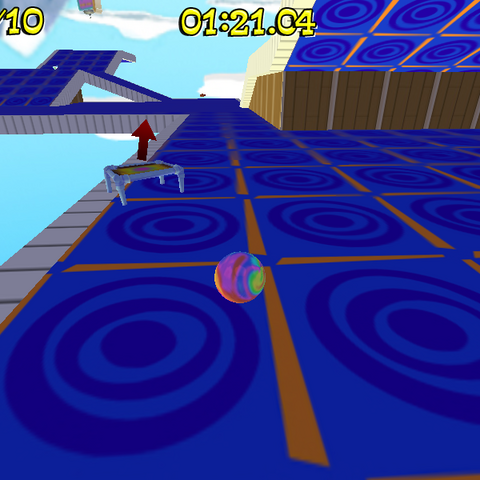 Super Bounce in a level
