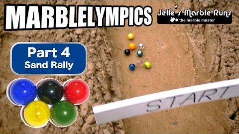 Marble Race- Marble Olympic Games (part 4, Sand Rally)