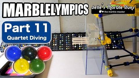 Marble Race- Marble Olympic Games (part 11, Quartet Diving)