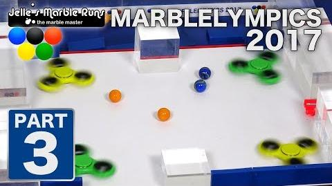 Marble Race- MarbleLympics 2017 event 3, Fidget Spinner Collision