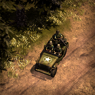 REP Jeep 3DPortrait ArmyGreen