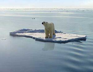 Arctic ocean-melting ice
