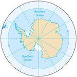 Antartica ocean-map