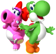 Yoshi and birdo by legend tony980-d4n6spq