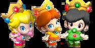 Bebé Peach, Daisy y Shelline