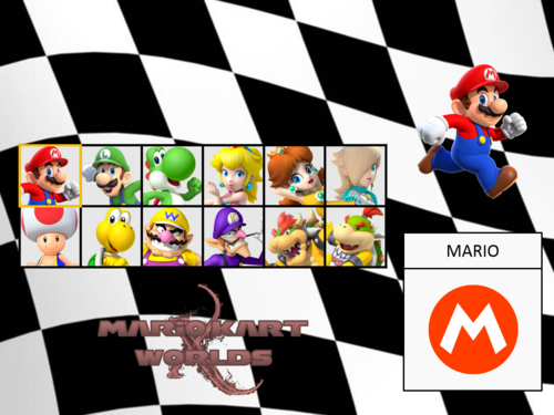 Mario Kart X Worlds DEMO Character Selector By Silver