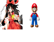 Mario and Touhou Reimu y Mario