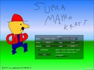 Super Mayro Kratt pantalla de inicio