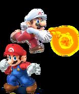 Mario y Mario De fuego