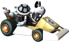 Dry Bones Artwork - Mario Kart DS