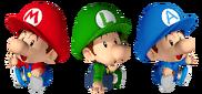 Bebé Mario, Luigi y Alessandro