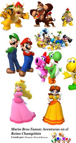 Mario Bros Fanon y Aventuras en el Reino Champiñón-0