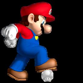 Champiñón Fantasmagórico Transparente y Mario