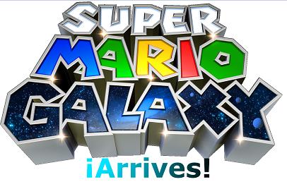 Mario Galaxy arrives logo