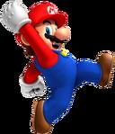 Jumping Mario Artwork - New Super Mario Bros. Wii