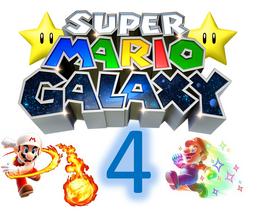 Super Mario Galaxy 4 Logo By Silver Martínez