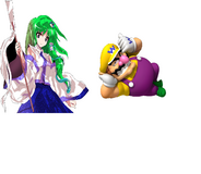 Mario and Touhou Wario y Sanae