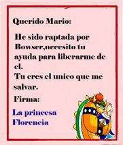 Carta de la princesa.