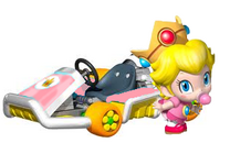 Baby Peach Artwork - Mario Kart 7