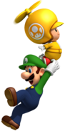 Luigi and Propeller Toad Artwork - New Super Mario Bros. Wii