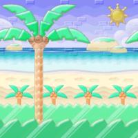 Playa destellante