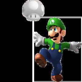 Champiñón Fantasmagórico Transparente y Luigi