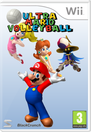 Ultra Mario Volleyball Carátula Wii By Silver And Company