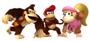 DK, Diddy Kong y Dixie Kong