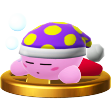 Trofeo de Kirby Sueño SSB4 (Wii U)
