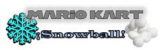 Mario Kart ¡Snowball! Logo By ~Silver~