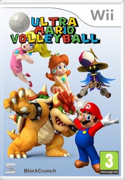 Ultra Mario Volleyball Carátula Wii (V2) By Silver And Company
