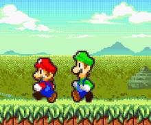 Mario y Luigi caminando
