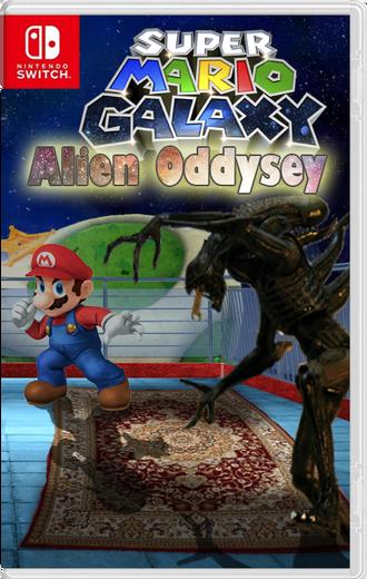 Super Mario Galaxy Alien Oddysey - carátula