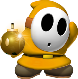 Shy Guy Bombardero Dorado