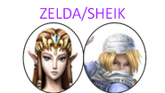 Zelda y Sheik SSBX