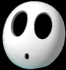 A shy guy mask