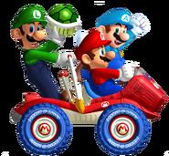 Mario, Luigi y Alessandro en MK3T