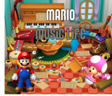 Mario Music Life Logo By Silver & Company